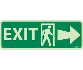 Exit (W/ Door And Right Arrow) 5X14 Glow Rigid