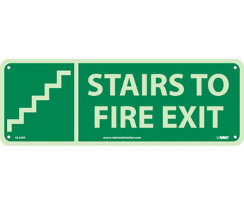 Stairs To Fire Exit  (W/ Graphic) 5X14 Glow Rigid