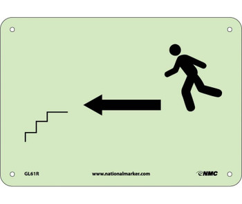 Stairs Left Arrow Man Graphic 7X10 Ps Glow