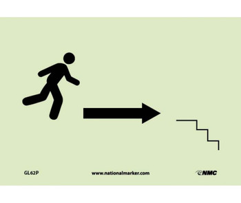 Stairs Right Arrow Man Graphic 7X10 Ps Glow