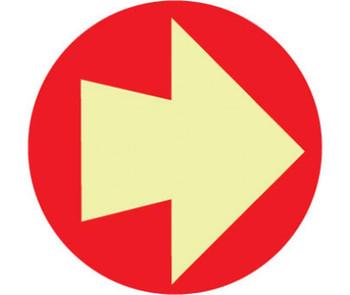 "Arrow Symbol 4"" Dia. Ps Glow"
