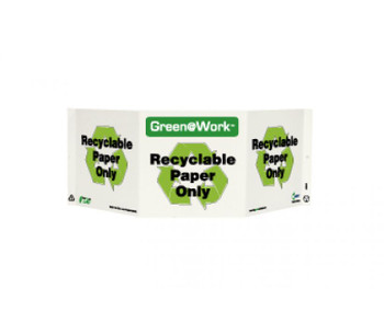 Tri-View Recyclable Paper Only 7.5X20 Recycle Plastic