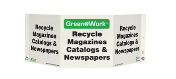 Tri-View Recycle Magazines Catalogs And Newspapers 7.5X20 Recycle Plastic