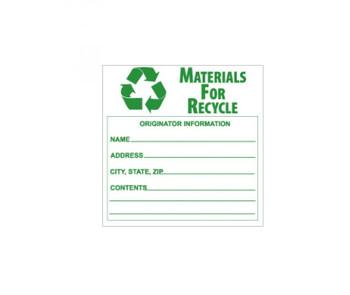 Labels Materials For Recycle 6X6 Ps Vinyl 500/Lb