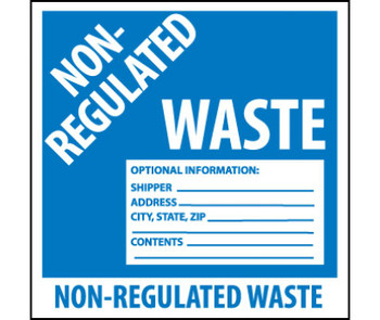 Labels Non Regulated Waste 6X6 Ps Vinyl 500/Roll