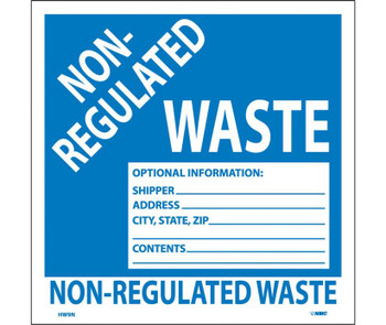 Labels Non-Regulated Waste 6X6 Ps Vinyl 25/Pk