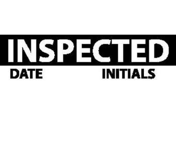 Inspection Label Inspected Blk/Wht 1X2 1/4 Ps Vinyl (27 Labels)