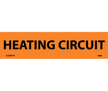 Electrical Markers Heating Circuit 1.125X4.5 Ps Vinyl 25/Pk