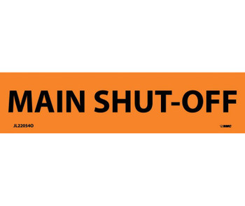 Electrical Markers Main Shut-Off 1.125X4.5 Ps Vinyl 25/Pk