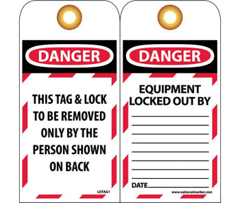 Special Tag  Lotag1 With Grommets Packed In Packages Of 25   6X3 Unrip Vinyl