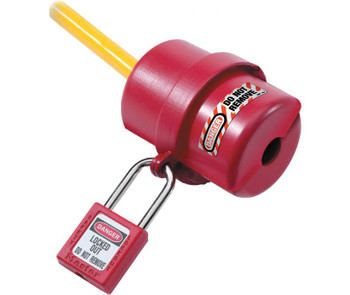 """Plug Lockout Rotating 2 1/4"""" Dia.X6"""" W/Cable Dia. Up To 3/4"""""""