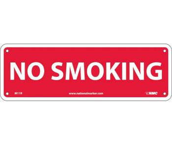 No Smoking 4X12 Rigid Plastic