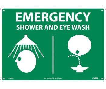 Emergency Shower & Eye (Graphics) 10X14 Rigid Plastic