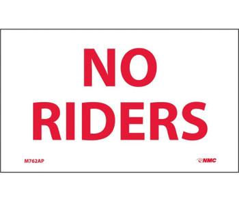 No Riders 3X5 Ps Vinyl 5/Pk