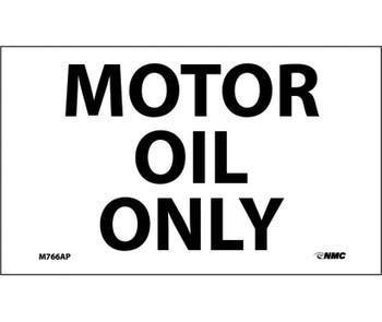 Motor Oil Only 3X5 Ps Vinyl 5/Pk