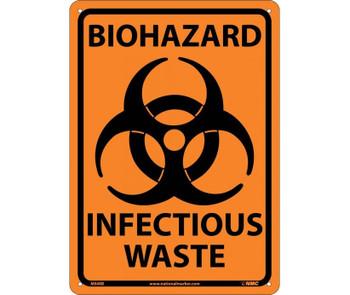 Biohazard Infectious Waste 10X14 Rigid Plastic