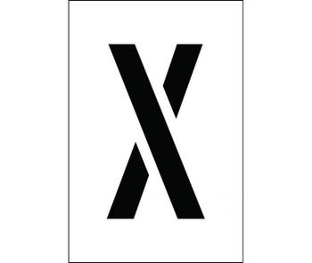 """Stencil Letter X 4"""""""