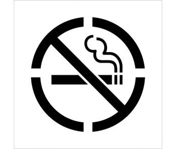 Stencil No Smoking Symbol 24X24