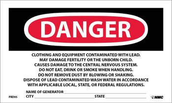 Labels Contains Lead Contaminates . . . 3X5 Ps Paper 500/Rl