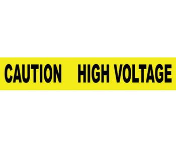 "Tape Barricade Caution High Voltage 3 Mil 3""X1000'"