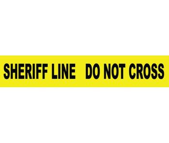 "Tape Barricade Sheriff Line Do Not Cross 3 Mil 3""X1000'"