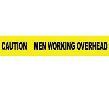 "Tape Barricade Caution Men Working Overhead 3 Mil 3""X1000'"