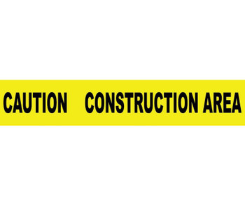 Tape Barricade Caution Construction Area 3X1000Ft 2 Mil