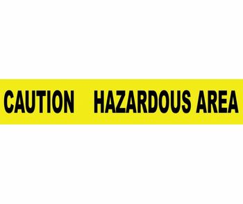 "Tape Barricade Caution Hazardous Area 3 Mil 3""X1000'"