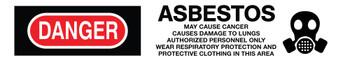 "Tape Barricade Osha Danger Asbestos May Cause Cancer 3 Mil 3""X1000' Barricade Tape"
