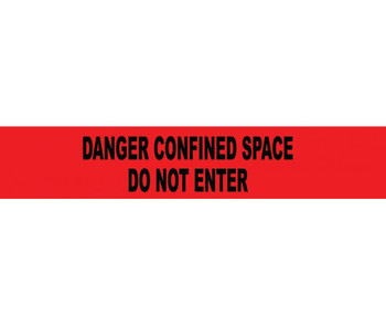 """Tape Barricade Danger Confined Space Do Not Enter 3 Mil 3""""X1000'"""