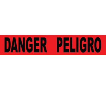 Tape Barricade Danger Peligro 3X1000Ft 2 Mil