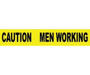 "Tape Barricade Caution Men Working 3 Mil 3""X1000'"