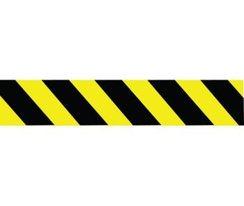 Tape Barricade Black Yellow Stripe 3X1000Ft 2 Mil