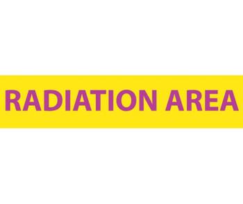 Radiation Radiation Area 1 3/4X8 Lexan