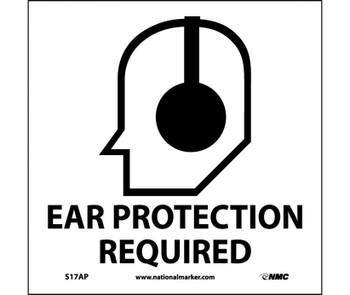 Ear Protection Required (Graphic) 4X4 Ps Vinyl 5/Pk