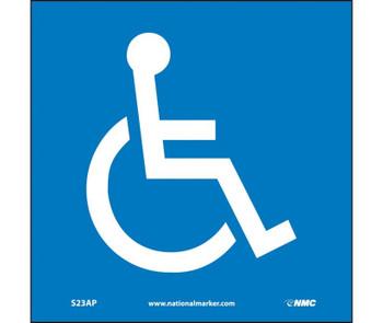 Handicapped Symbol 4X4 Ps Vinyl 5/Pk