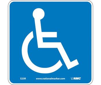 Handicapped (W/ Graphic) 7X7 Rigid Plastic