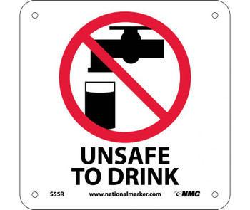 Unsafe To Drink (W/ Graphic) 7X7 Rigid Plastic