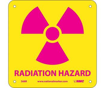 Radiation Hazard (W/ Graphic) 7X7 Rigid Plastic