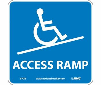 Access Ramp (W/ Graphic) 7X7 Rigid Plastic