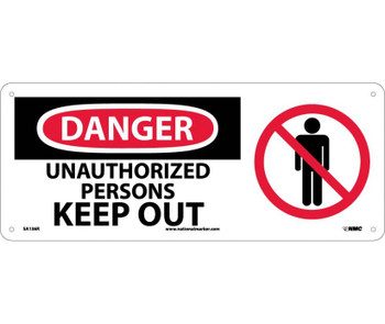 Danger Unauthorized Persons Keep Out (W/Graphic) 7X17 Rigid Plastic