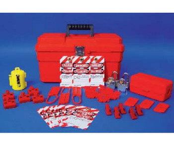 Bilingual Electrical Starter Kit Electrical Lockout Starter Kit Tool Box With Contents