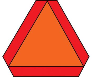 Slow Moving Vehicle Emblem S276.6 14X16 Ps Vinyl Hi Intensity