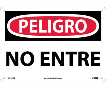 Peligro No Entre 10X14 Rigid Plastic