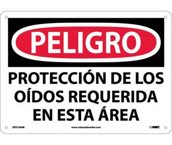 Peligro Proteccion De Los Oidos Requerida En Esta Area 10X14 .040 Alum