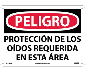 Peligro Proteccion De Los Oidos Requerida En Esta Area 10X14 Rigid Plastic