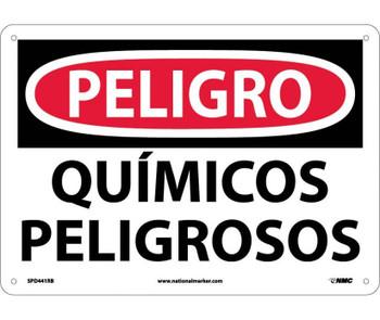Peligro Quimicos Peligrosos 10X14 Rigid Plastic