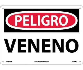 Peligro Veneno 10X14 Rigid Plastic