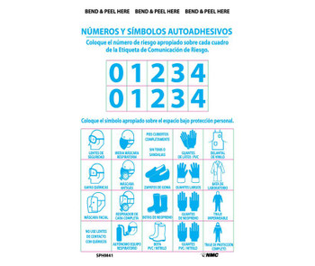 Right To Know Labels Personal Protection Numbers & Symbols (Bilingual) Ps Vinyl 10/Pk