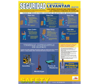 Poster Back Lifting Safety Spanish 24X18